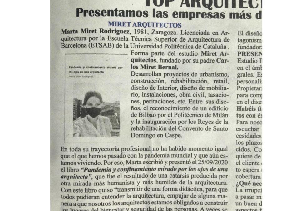 """Articulo en el ABC """"Top Arquitectura…"""""""