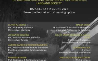 ARQUITECTONICS: Mind, Land & Society  Present the 20th INTERNATIONAL CONFERENCE  –  THE BAUHAUS CASE AND THE INTERPLAY BETWEEN MIND, LAND AND SOCIETY  BCN 1-2-3 JUNE 2022