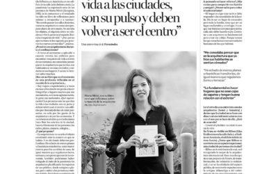 """Entrevista Marta Miret: """"Las personas dan vida a las ciudades, son su pulso y deben volver a ser el centro"""""""